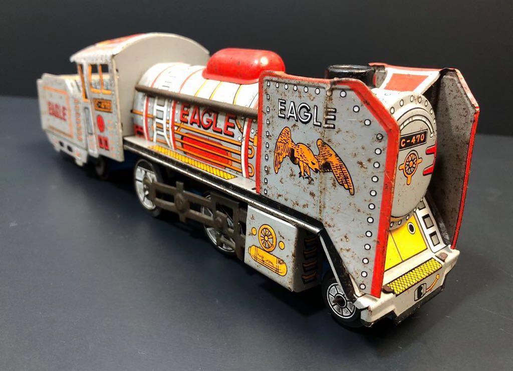 昭和レトロ ブリキ 蒸気機関車 EAGLE C-470 ブリキ製 電車 機関車 おもちゃ 玩具 日本製 当時物 ジャンク品_画像2