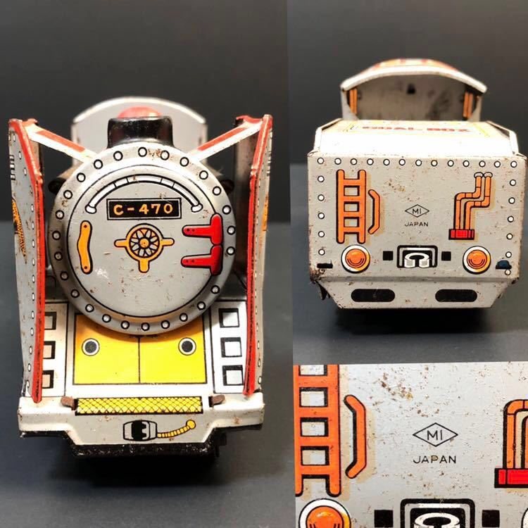 昭和レトロ ブリキ 蒸気機関車 EAGLE C-470 ブリキ製 電車 機関車 おもちゃ 玩具 日本製 当時物 ジャンク品_画像5