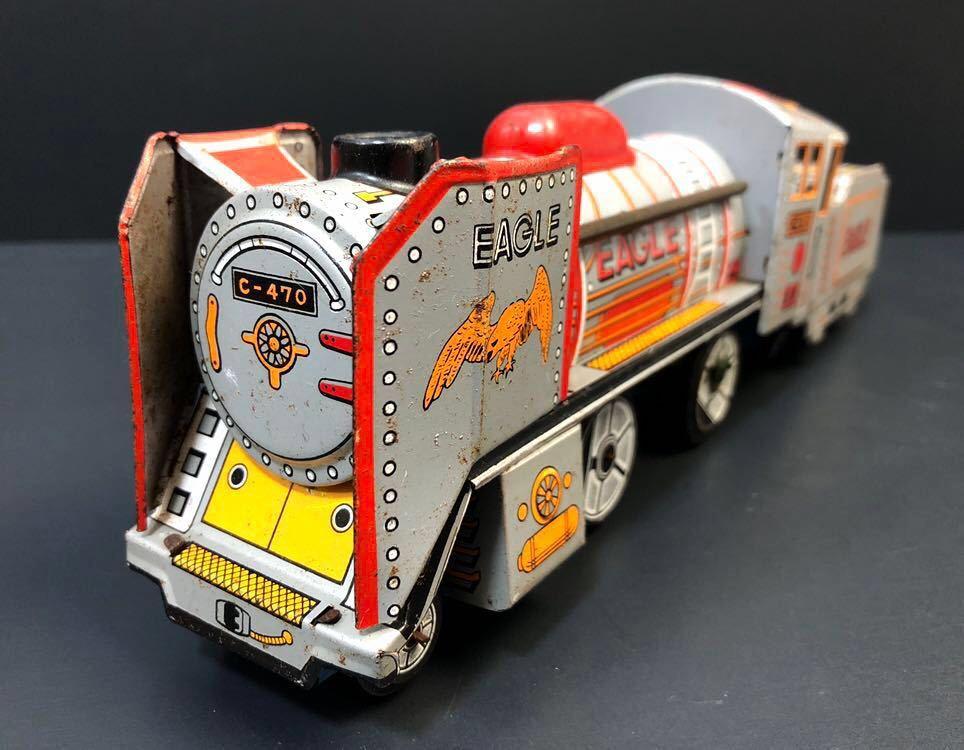 昭和レトロ ブリキ 蒸気機関車 EAGLE C-470 ブリキ製 電車 機関車 おもちゃ 玩具 日本製 当時物 ジャンク品