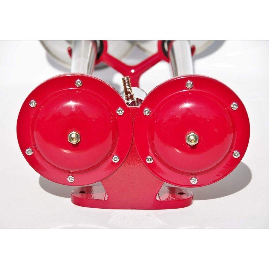 音が聞ける 何だこれは 入手困難 ダブルビックホーン650mm 24V どこまでも届く大迫力重低音_画像3