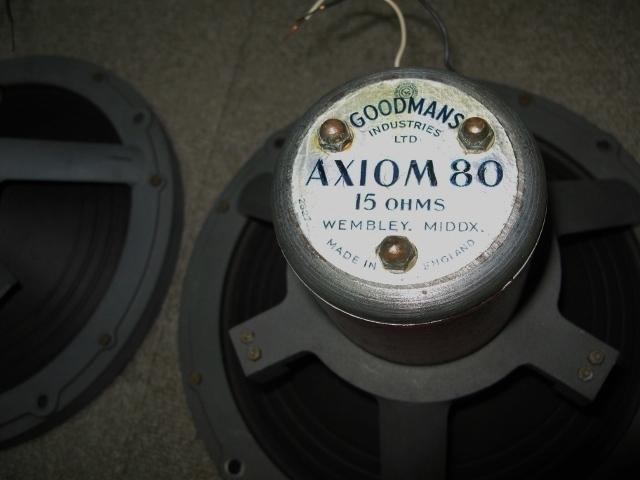 貴重 ★ GOODMAN AXIOM80 ARU付エンクロージャー ★(WEMBLEY MIDDX)_画像3