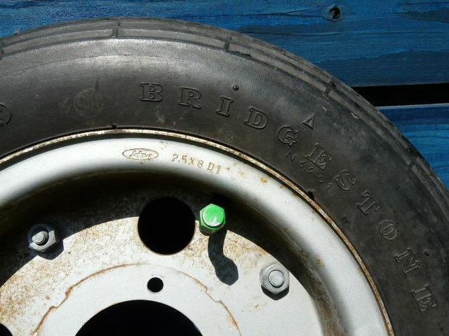 【これは、ゴミかオブジェです】 ホンダ・モンキー・ゴリラ  8 インチ ホイール・タイヤ 前後セット_画像3