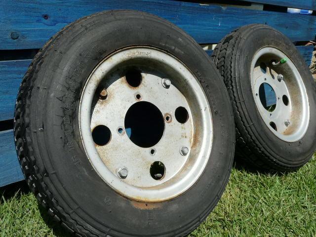 【これは、ゴミかオブジェです】 ホンダ・モンキー・ゴリラ  8 インチ ホイール・タイヤ 前後セット_画像4