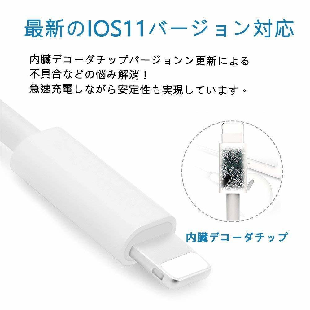 [新品]iPhone 3.5mmイヤホンジャック変換アダプタ iPhoneXs/Xs max/Xr/8/8plus/7/7plus(IOS11、12対応) 音楽再生用 通話不可_画像2