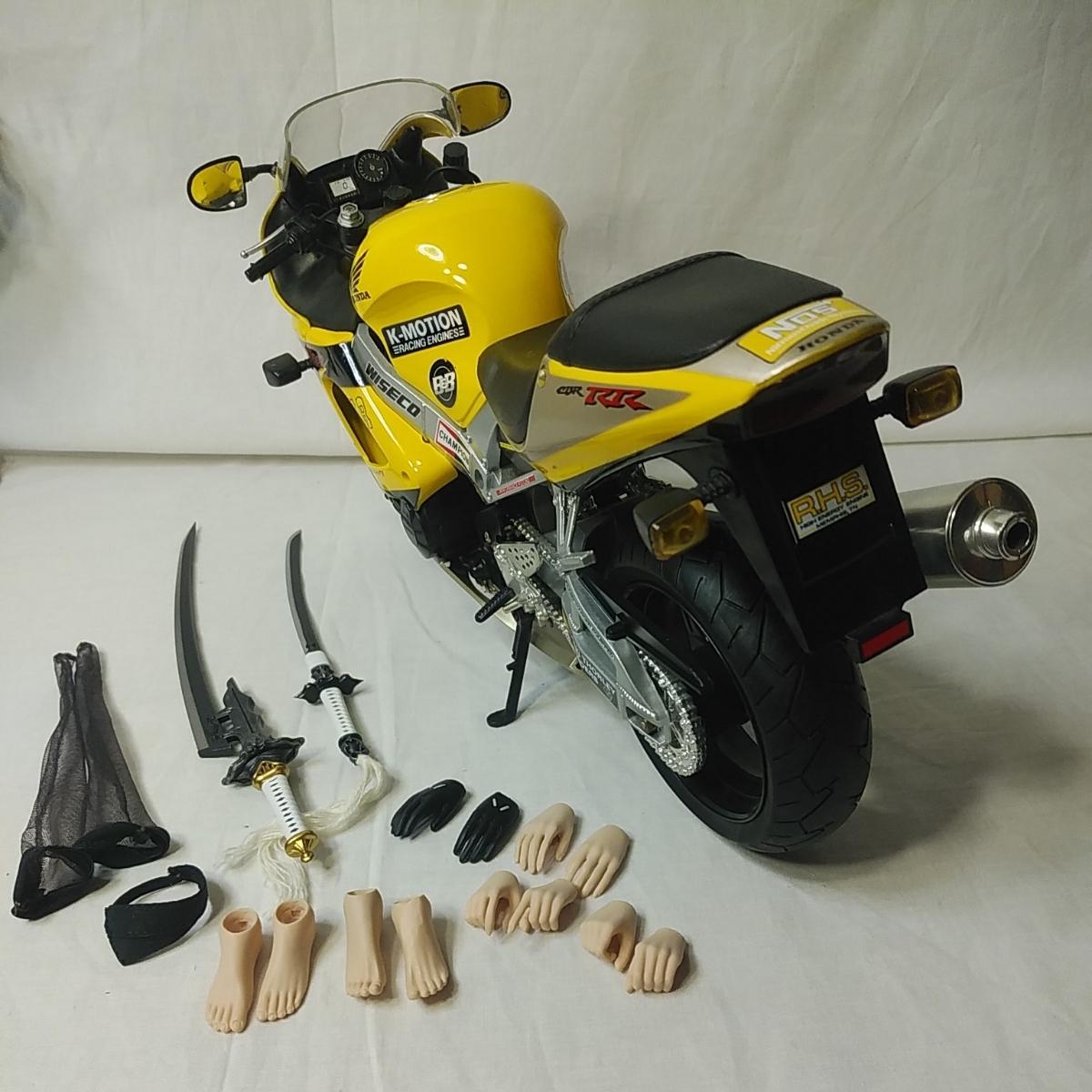 1/6ニーアオートマタヨルハ二号ヘッド衣装ファイセンtbリーグ製シームレスシリコンアクションフィギュアHondaCBR1000RRバイクのフルセット_画像6