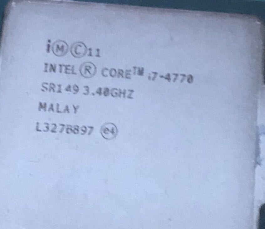 CPU Intel Core i7-4770 3.40GHz 中古_画像2