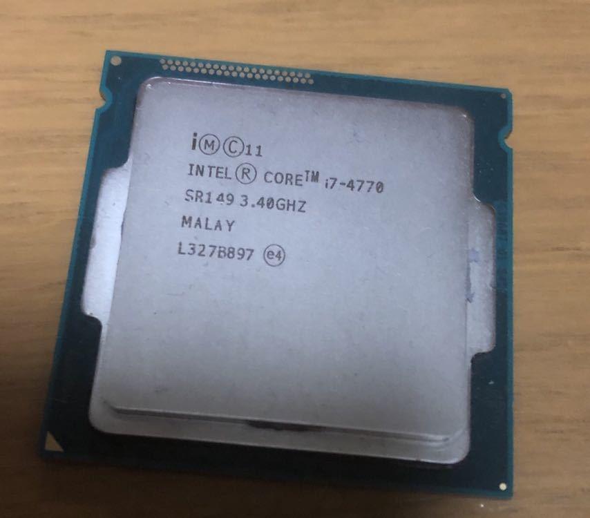 CPU Intel Core i7-4770 3.40GHz 中古