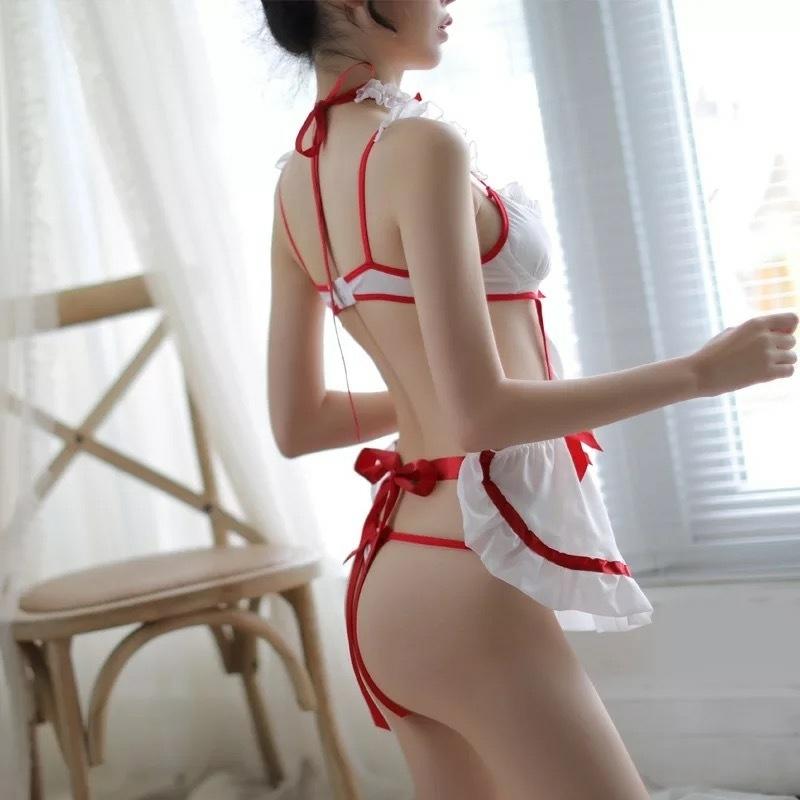 DISSMI 1239 ゴールデンウィーク限定特価 高品質 メイド風服 白色 制服誘惑 コスチューム 超セクシー 可愛いコスプレ衣装 _画像2