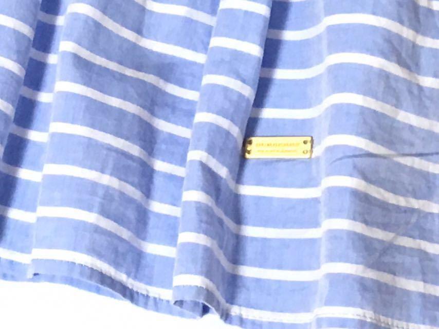 美品 バーバリーブルーレーベル 可愛いボーダー柄フレアスカート 38 送料185円♪_画像4
