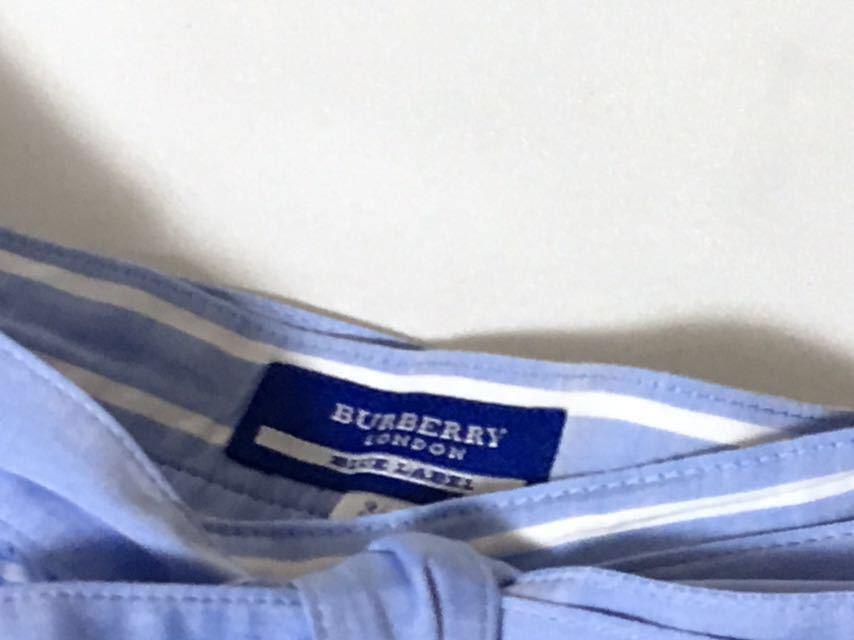 美品 バーバリーブルーレーベル 可愛いボーダー柄フレアスカート 38 送料185円♪_画像3