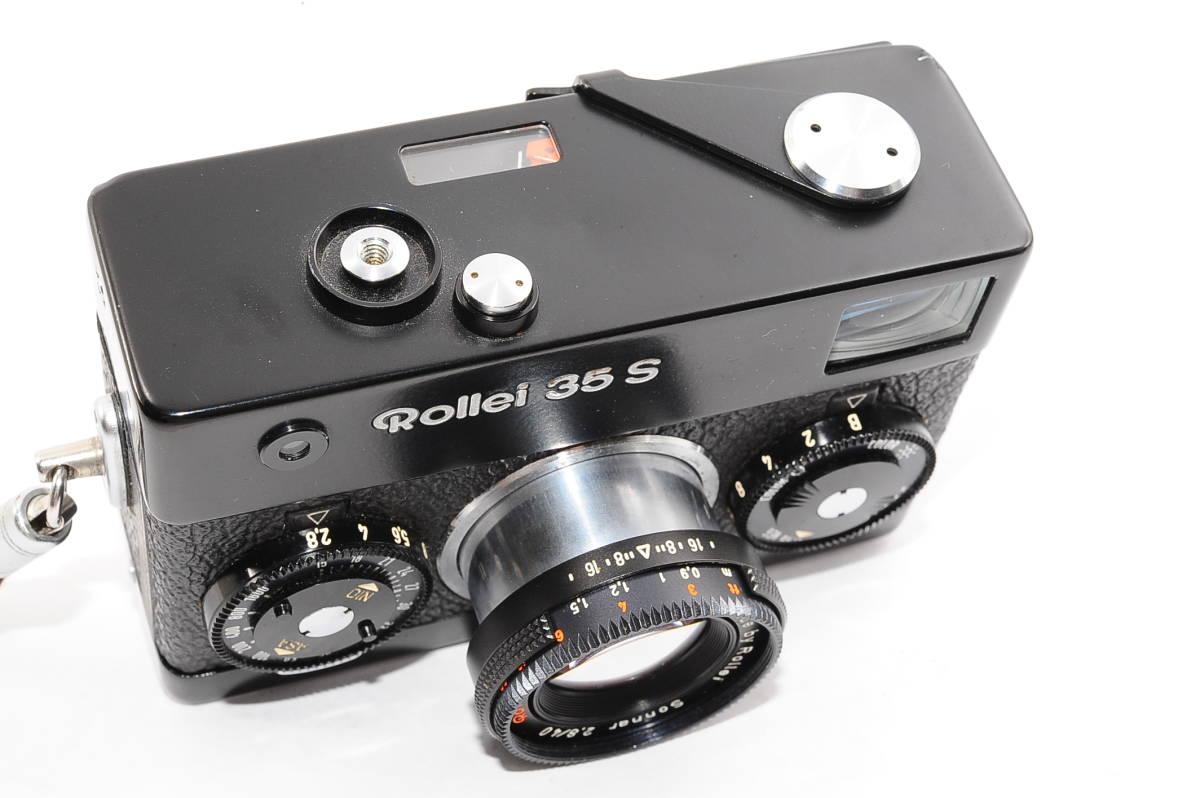 【美品】 ローライ Rollei 35S ゾナー 40mm F2.8 - ブラック レンジファインダーカメラ + ストラップ付 [2453991]_画像5