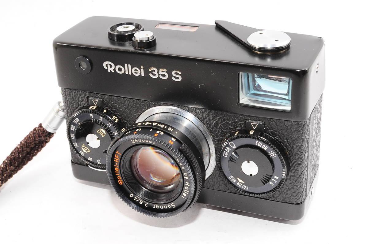 【美品】 ローライ Rollei 35S ゾナー 40mm F2.8 - ブラック レンジファインダーカメラ + ストラップ付 [2453991]