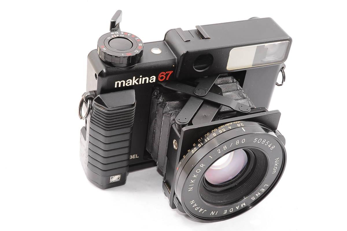 【希少品】 プラウベル マキナ PLAUBEL makina 67 ニッコール NIKKOR 80mm F2.8 グリップ付き 中判 蛇腹 カメラ [508548]_画像5