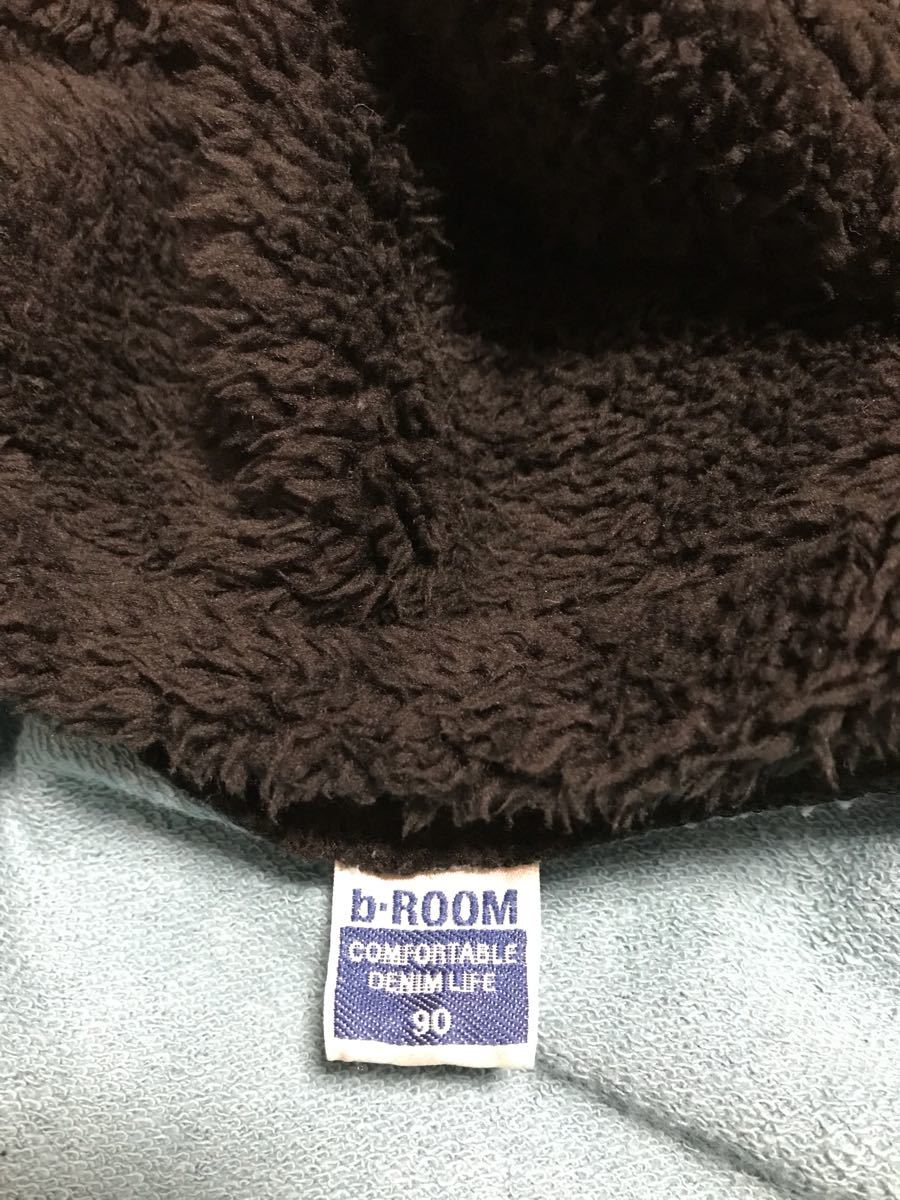 b-ROOM パーカー 90 モンスター 男の子 羽織 防寒 フード付き ビールーム_画像4