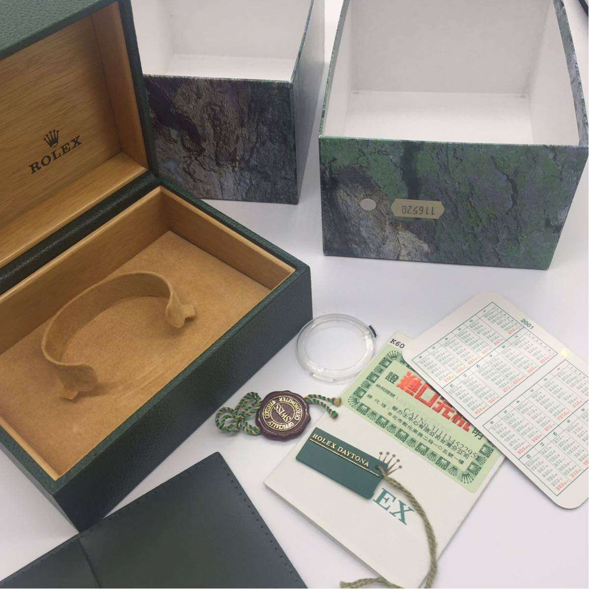 ROLEX DAYTONA REF116520 箱 BOX タグ ギャランティ 付属品 K番_画像3