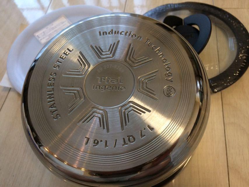 T-fal ティファール インジニオ・ネオ ステンレス ソースパン 16cm 3点セット 新品_画像2