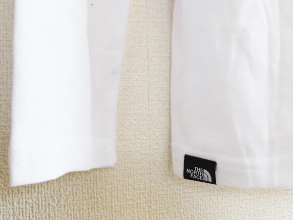 即日発送トルコ製 海外限定JPサイズXXL 新品The North Faceロングスリーブ スクエアロゴ スリーブティー3Lボックス ロゴ白ホワイト長TロンT_画像6