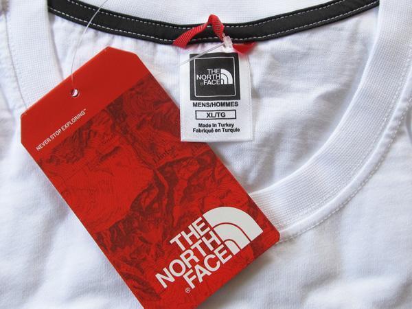 即日発送トルコ製 海外限定JPサイズXXL 新品The North Faceロングスリーブ スクエアロゴ スリーブティー3Lボックス ロゴ白ホワイト長TロンT_画像7