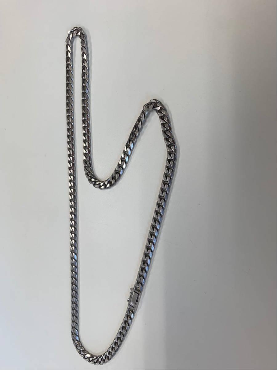 喜平ネックレス 6面 プラチナ pt850 100.8g 60cm