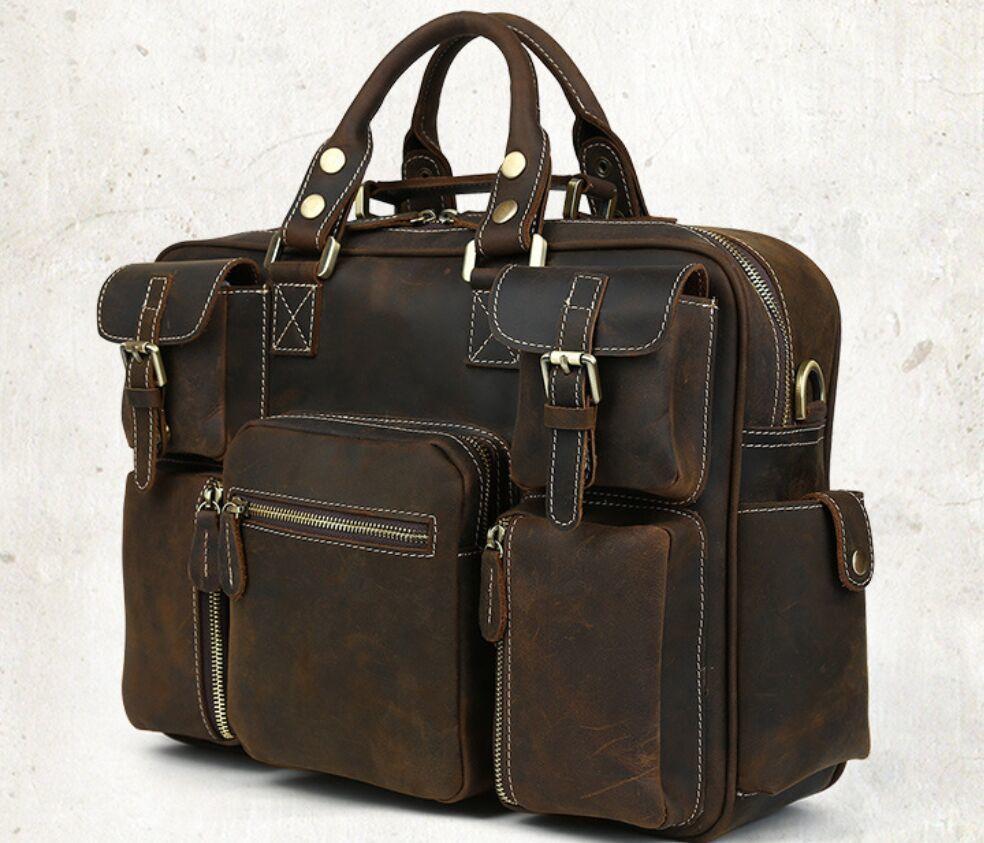 ※最高の贅沢※ *上層牛革100%メンズビジネスバッグ 書類かばん ビジネスバッグ ショルダーバッグ メンズバッグ 鞄_画像4