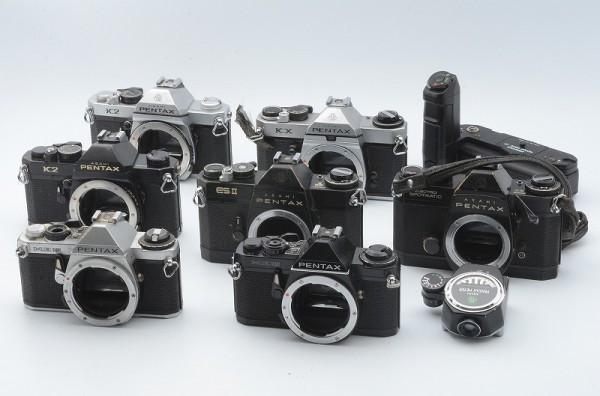 一円出品売り切り!! 大量 まとめて 7台 Pentax ペンタックス 一眼フィルムカメラ ME Super , K2 , KX , ES II など #358