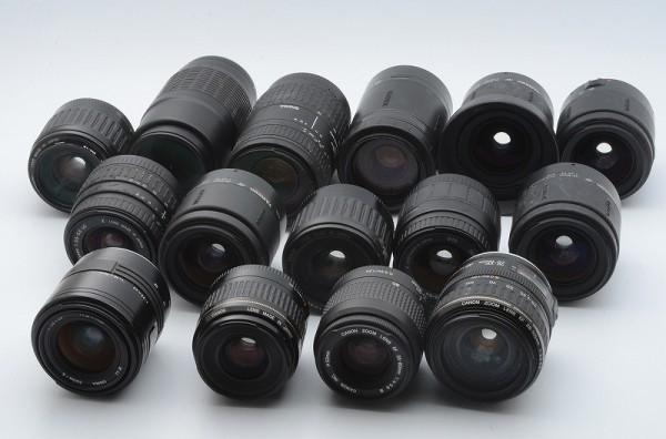 一円出品売り切り!! 大量 まとめて 15本 Canon キャノン Sigma シグマ Tamron タムロン EFマウント AFレンズ #345