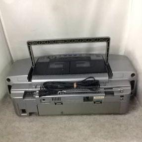 g_t w238 CDラジカセ Panasonic CD Wラジカセ RX-ED-55+電源コード ジャンク品_画像4