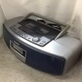 g_t w238 CDラジカセ Panasonic CD Wラジカセ RX-ED-55+電源コード ジャンク品_画像3