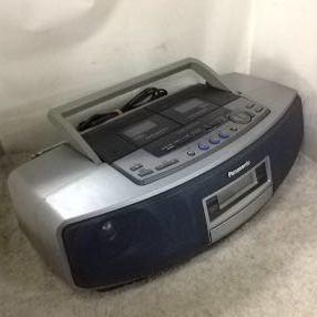 g_t w238 CDラジカセ Panasonic CD Wラジカセ RX-ED-55+電源コード ジャンク品_画像2