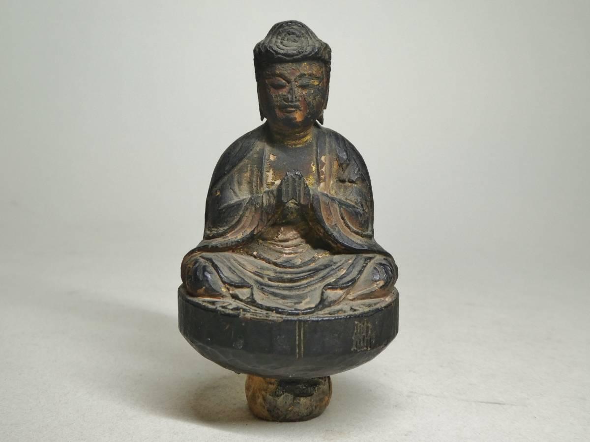 木造如来坐像化仏(鎌倉~南北朝)
