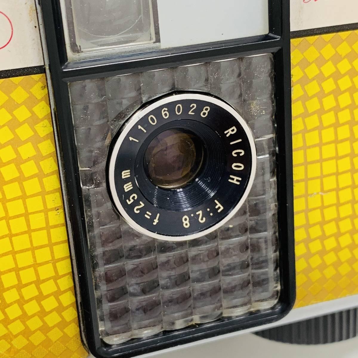 【2954】 RICOH リコー AUTO HALF E F:2.8 f=25mm カメラ 25mm オートハーフ シルバー×イエロー_画像3