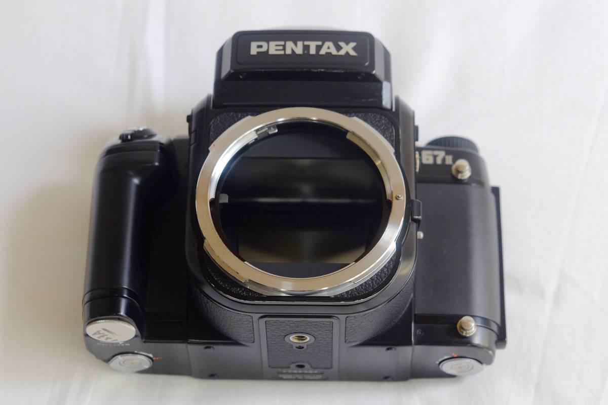 ★美品★程度良 PENTAX  ペンタックス中判 フイルムカメラ 67Ⅱ  標準レンズ3本セット 105mm 55mm 200mm _画像3