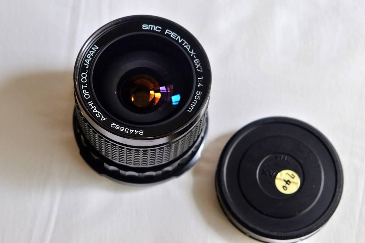 ★美品★程度良 PENTAX  ペンタックス中判 フイルムカメラ 67Ⅱ  標準レンズ3本セット 105mm 55mm 200mm _画像6