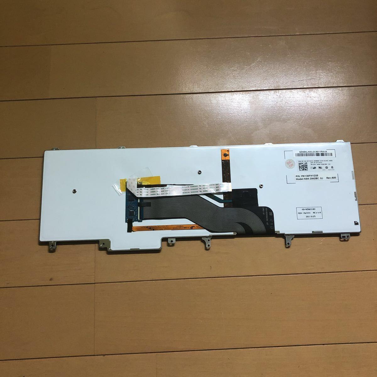 DELL 日本語キーボード 中古 ジャンク Latitude E6520/E6530/E6540/E5520/E5530_画像2
