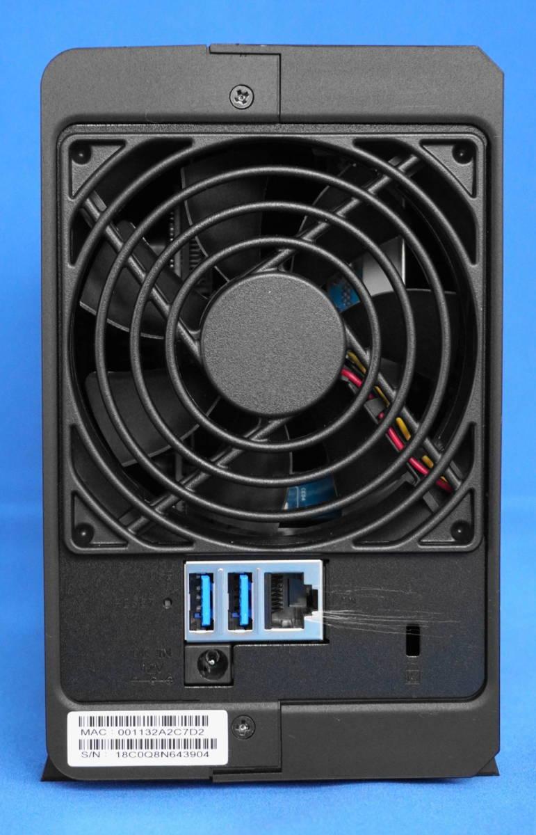 ☆極美品☆Synology DiskStation クアッドコアCPU搭載多機能パーソナルクラウド 2ベイNASキット/ガイドブック付き DS218play/JP_画像3