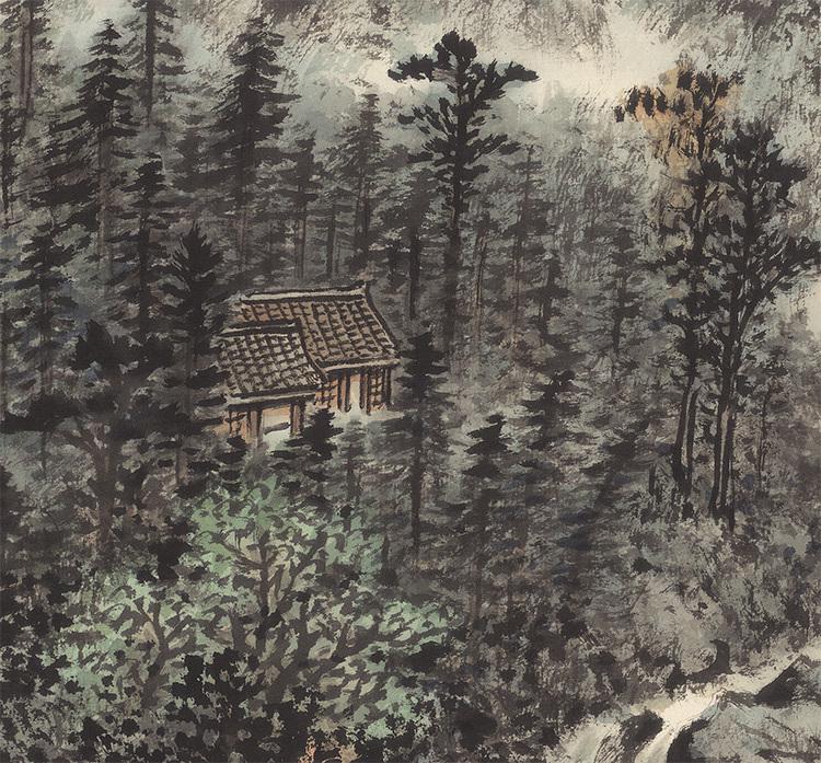 黄君璧『瀘州飛瀑』美術品 中国書画家 掛軸 掛け軸 希少品 賞物 収蔵品 サイズ:62cm x 95cm_画像3