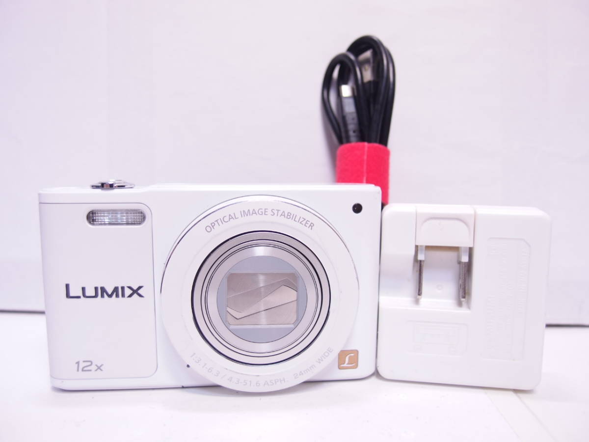 LUMIX DMC-SZ10 【1600万画素、光学12倍ズーム】 ホワイト 中古