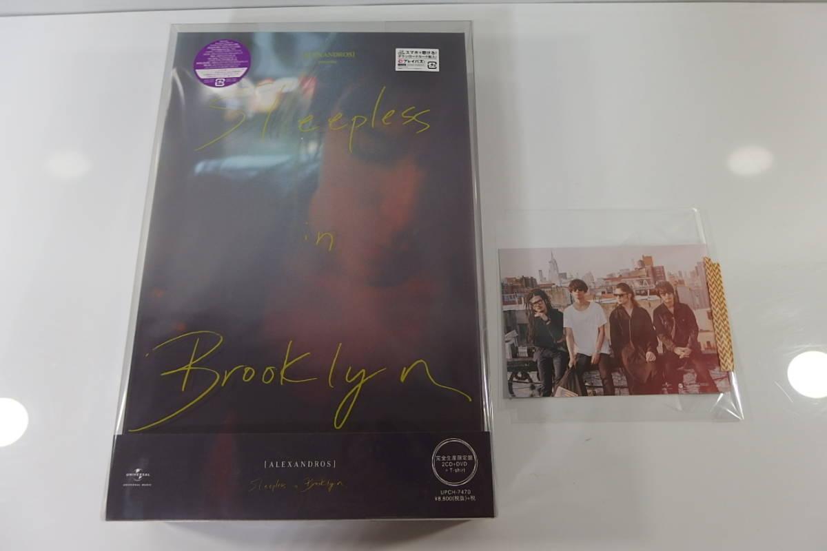 ◆新品未開封 ALEXANDROS 2CD+DVD+T-shirt Sleepless in Brooklyn 完全生産限定盤 ポストカードつき