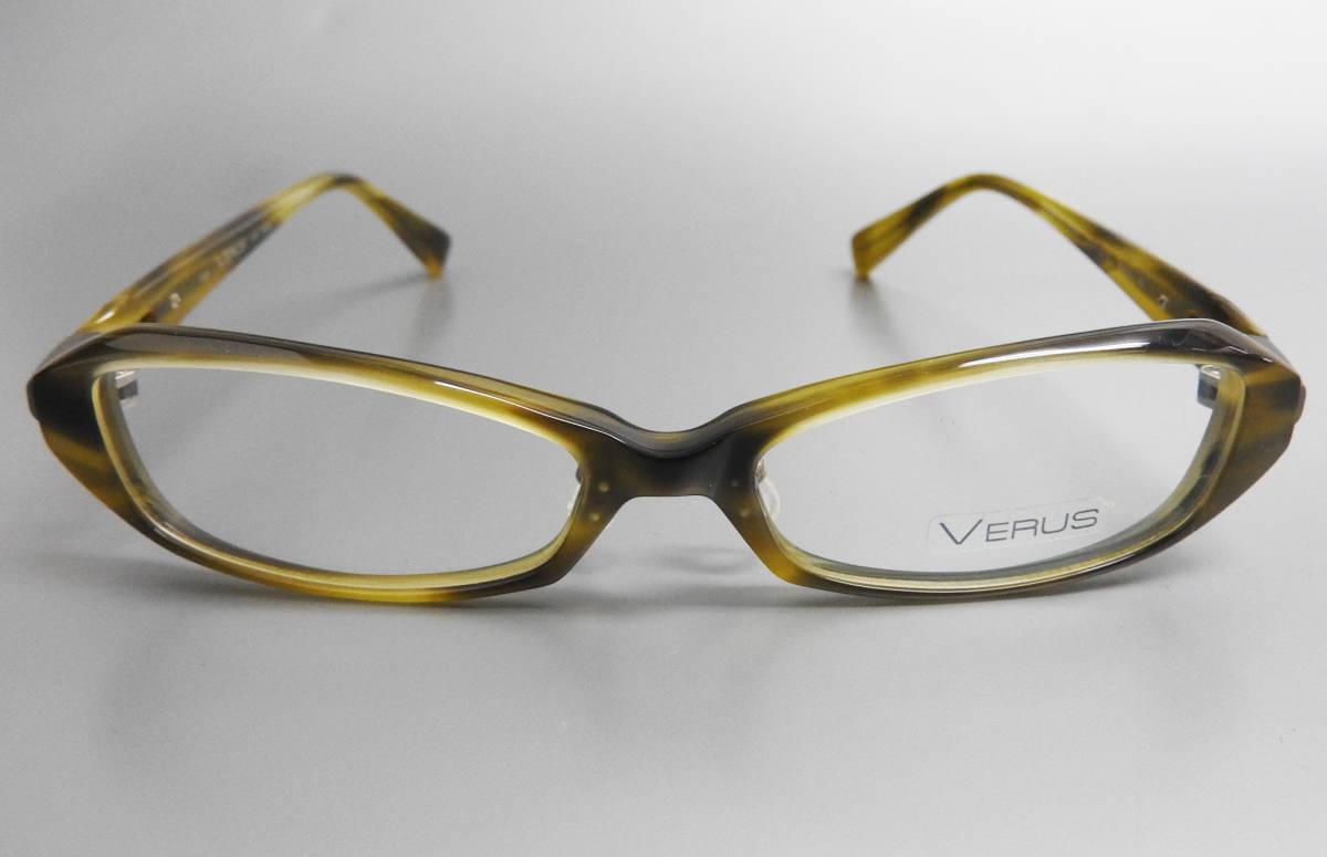 展示美品 SEIKO VERUS メガネフレーム グリーン フルリム めがね 眼鏡 伊達メガネ おしゃれ メンズ レディース セルフレーム チタン /4713_画像2