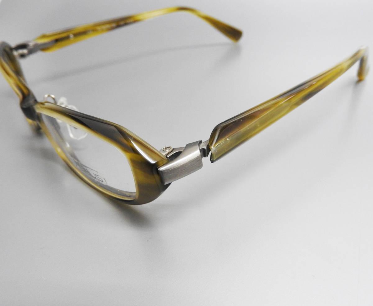 展示美品 SEIKO VERUS メガネフレーム グリーン フルリム めがね 眼鏡 伊達メガネ おしゃれ メンズ レディース セルフレーム チタン /4713_画像3