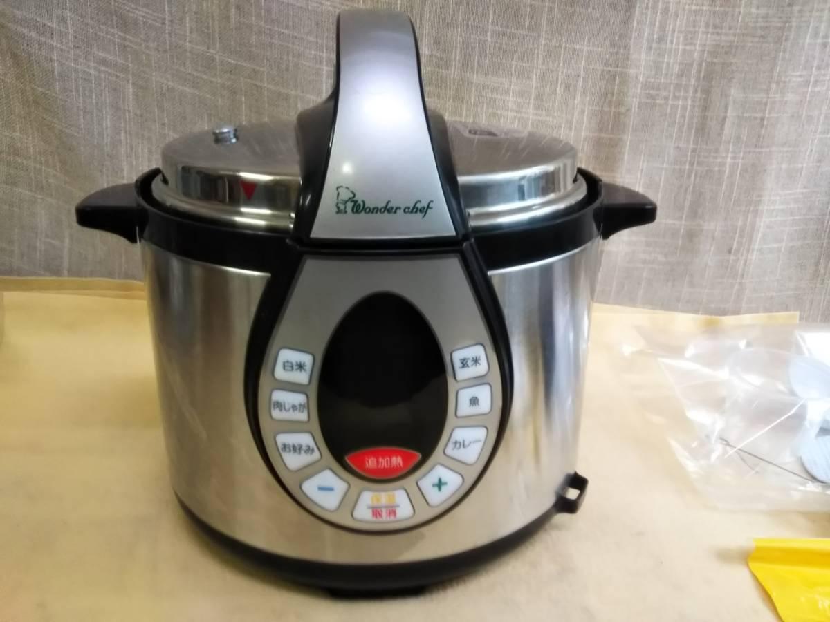 ワンダーシェフ 家庭用電気圧力鍋 4L GEDA40 T04 2016年製 ほぼ未使用品 _画像2