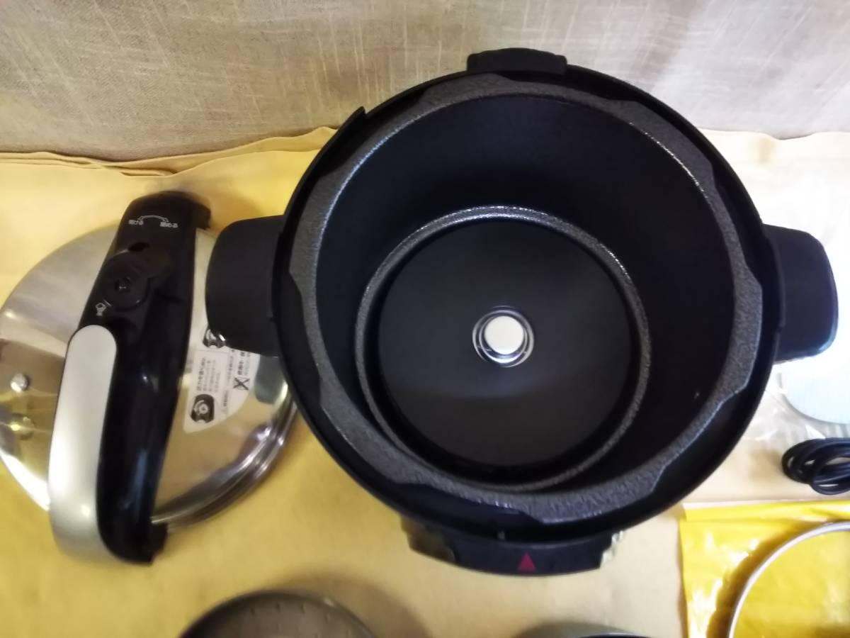 ワンダーシェフ 家庭用電気圧力鍋 4L GEDA40 T04 2016年製 ほぼ未使用品 _画像3