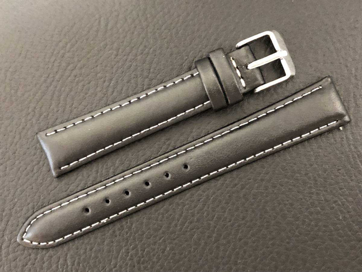 [3031605] 腕時計用 革ベルト レザーベルト 16mm ブラック 高品質 送料62円 新品未使用品_画像2