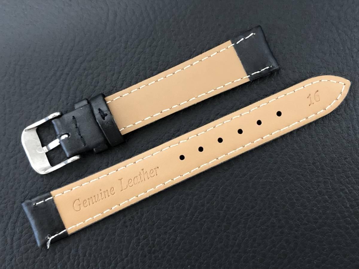 [3031605] 腕時計用 革ベルト レザーベルト 16mm ブラック 高品質 送料62円 新品未使用品_画像3