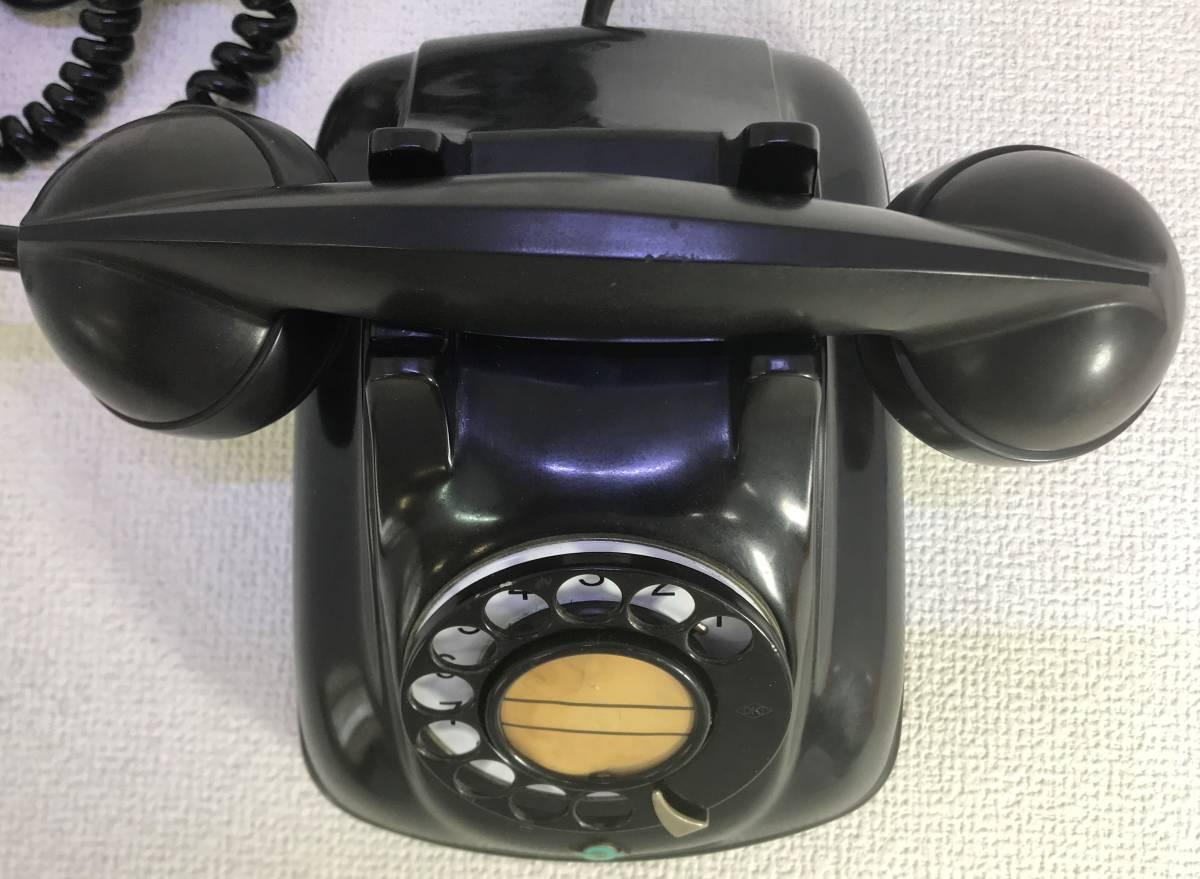 【597】★レトロ黒電話/着信通話確認済★日本電信電話公社1971年製/4号A自動式卓上電話機_画像2