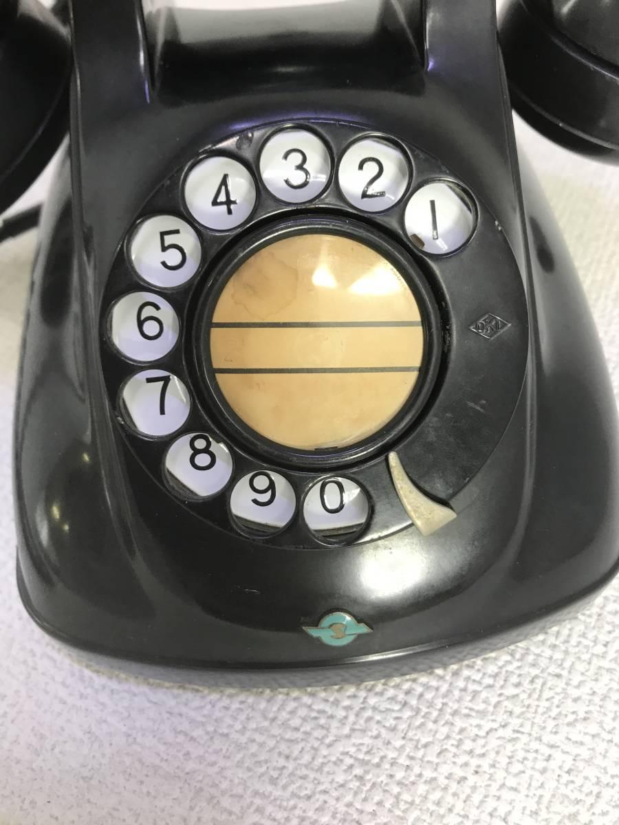 【597】★レトロ黒電話/着信通話確認済★日本電信電話公社1971年製/4号A自動式卓上電話機_画像8