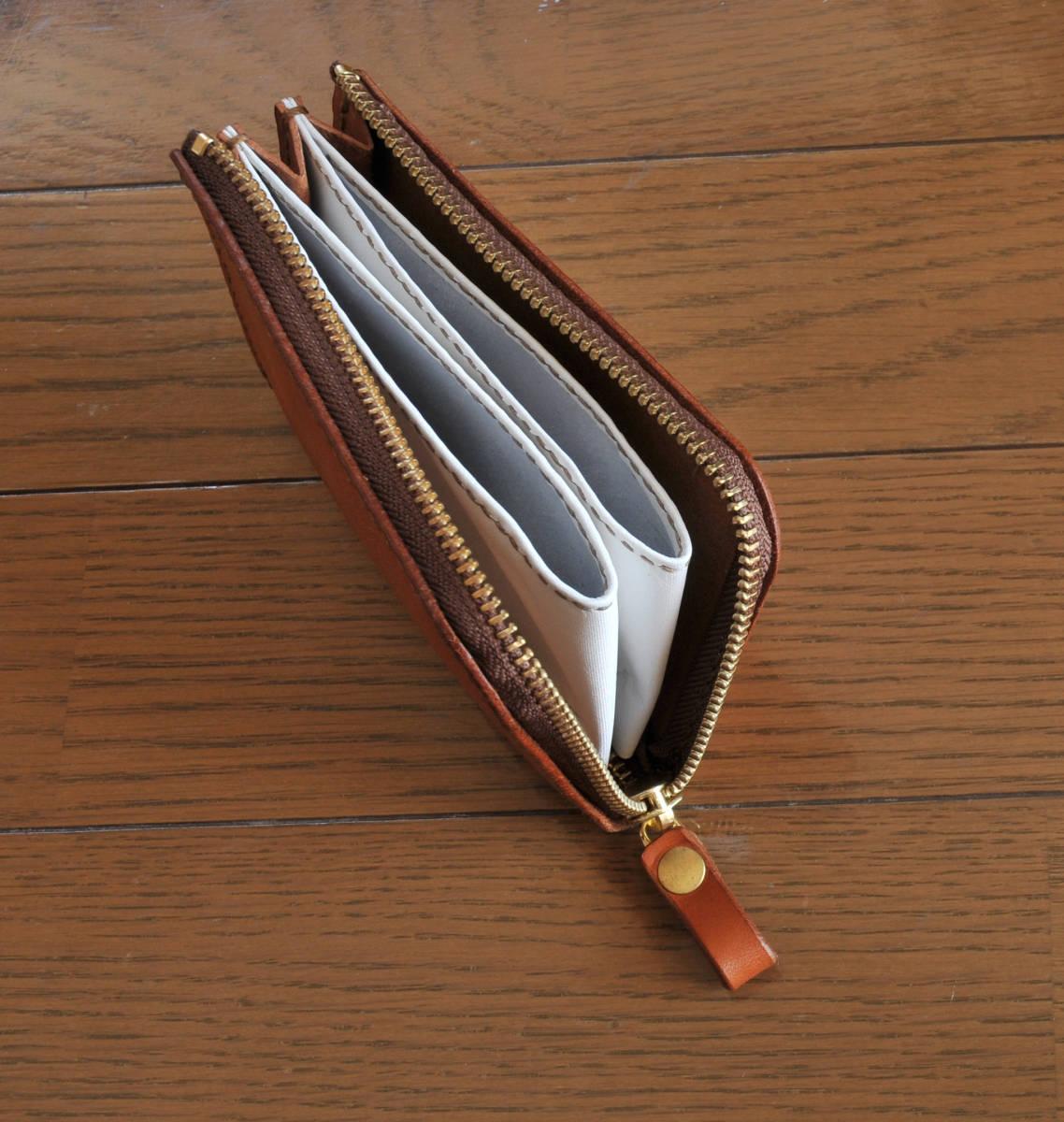 栃木レザー  小型財布  手縫いハンドメイド_画像3
