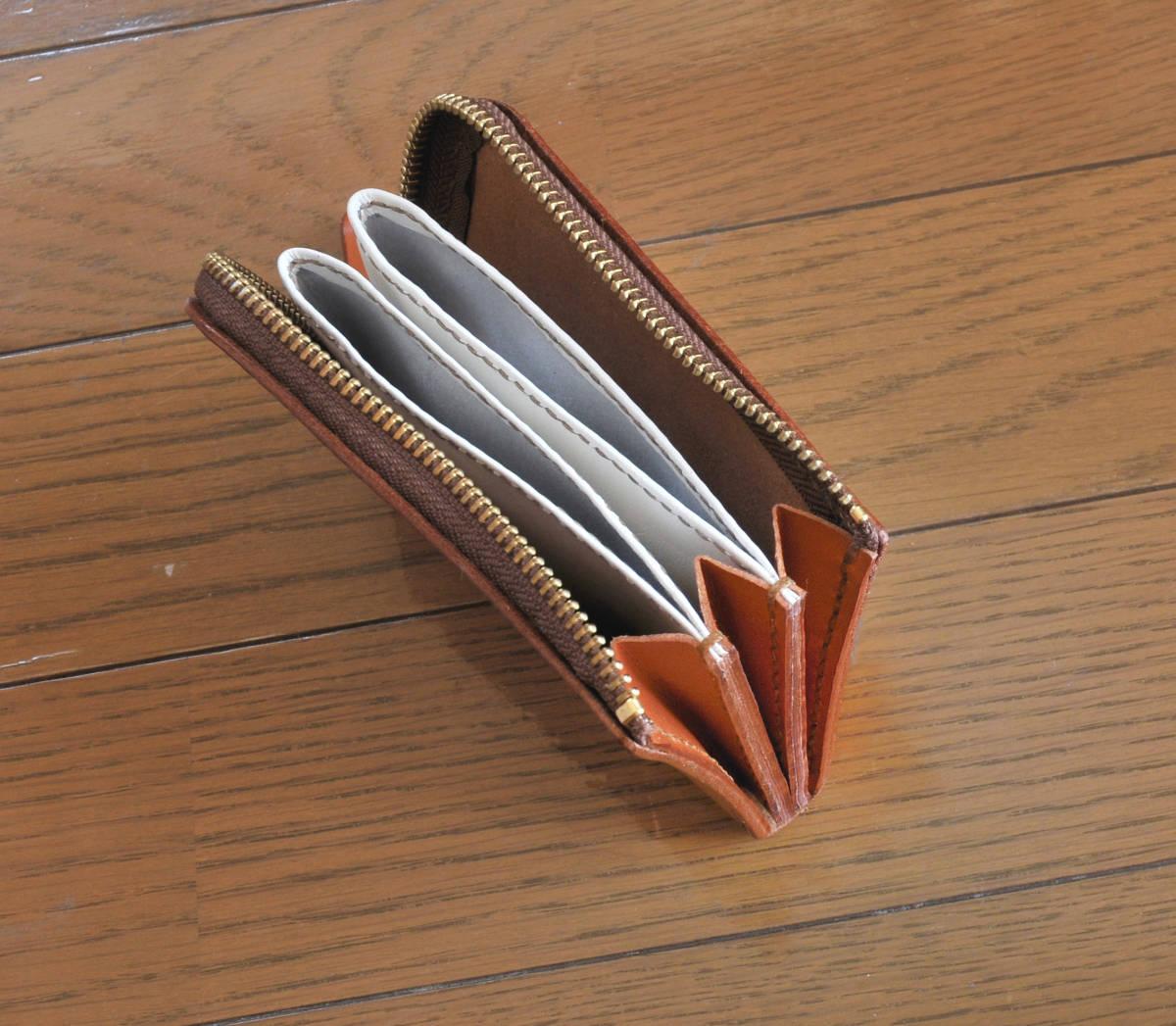 栃木レザー  小型財布  手縫いハンドメイド_画像4