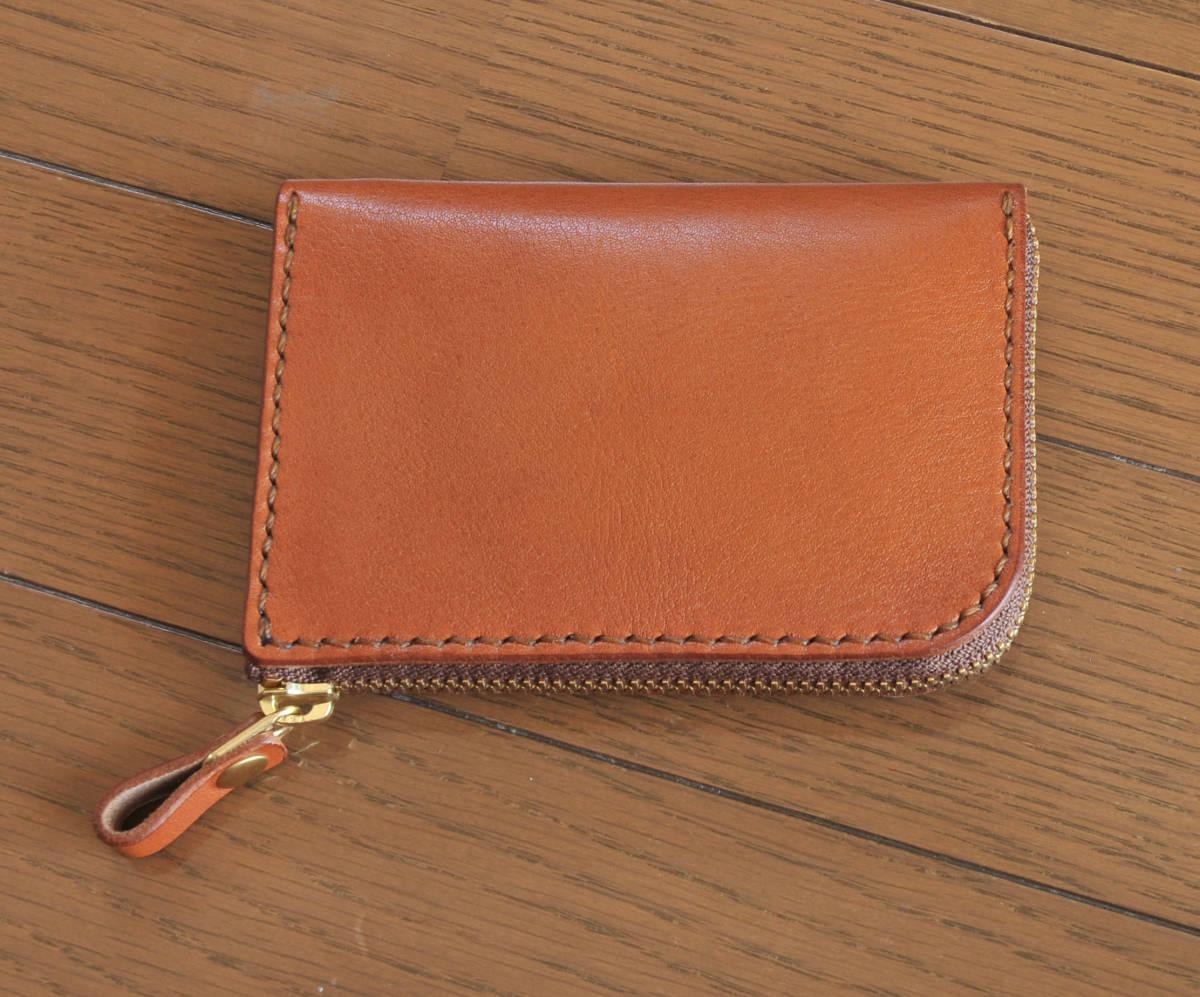 栃木レザー  小型財布  手縫いハンドメイド