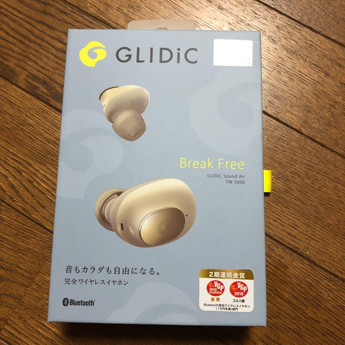 【新品未使用】ソフトバンク完全ワイヤレスイヤホン GLIDIC Sound Air TW-5000/シャンパンゴールド